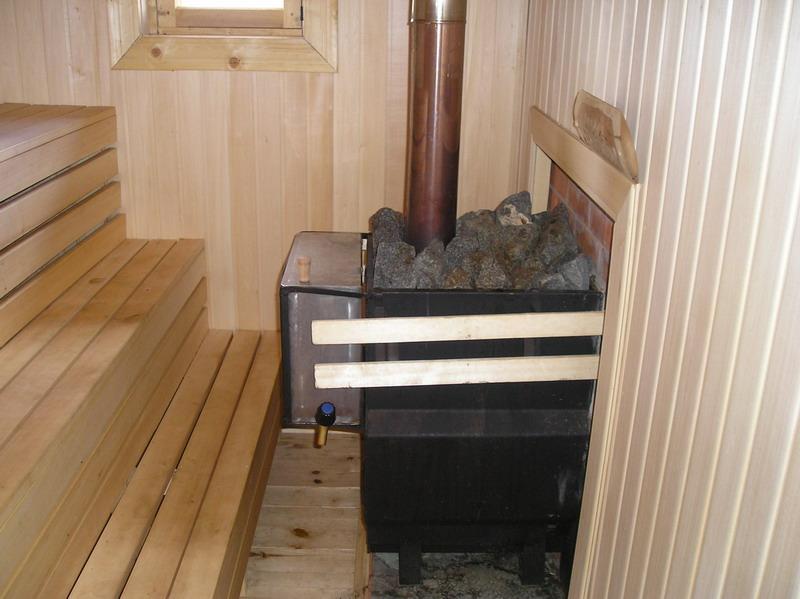 Установка дровяной печи в баню своими руками